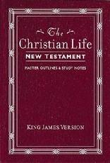 KJV Christian Life New Testament - Burgundy Leatherflex (9780840701350)
