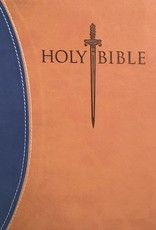 Whitaker House KJV Sword Study Bible/Giant Print-Blue/Tan Ultrasoft Indexed