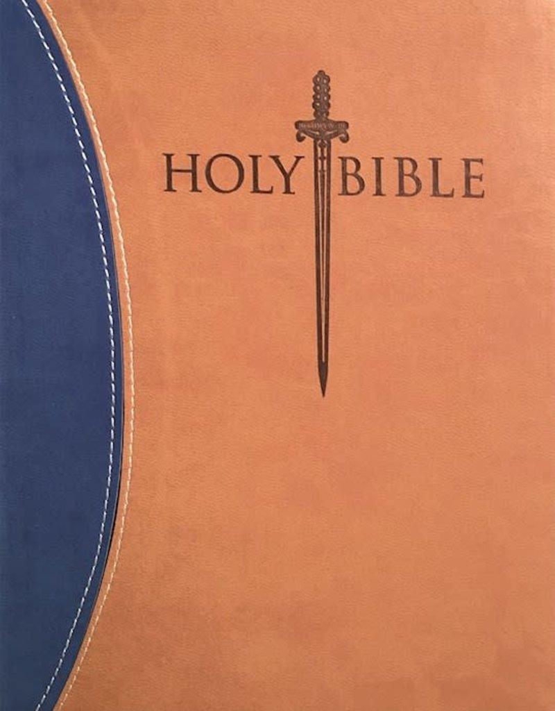 KJV Sword Study Bible/Giant Print-Blue/Tan Ultrasoft Indexed