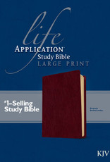 KJV Life Application Study Bible/Large Print-Burgundy Bonded Leather