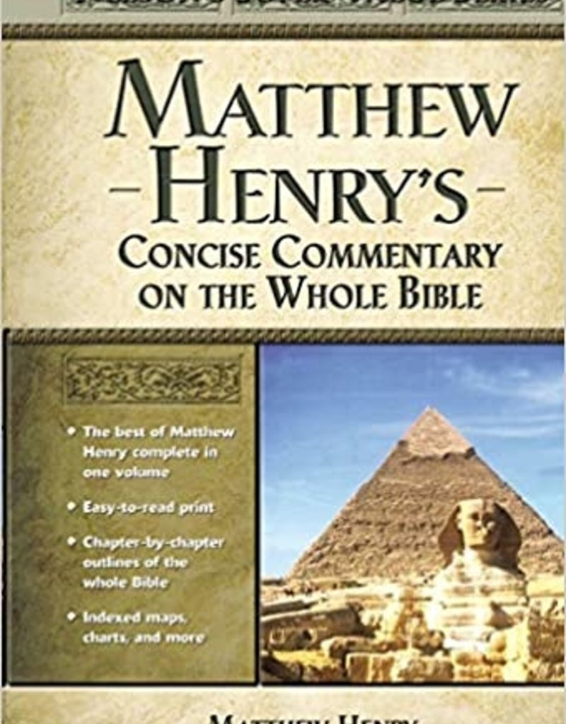 Matthew Henry's Commentary on the Whole Bible: New Edition