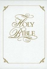 KJV Family Faith & Values Gift Bible-White Imitation Leather