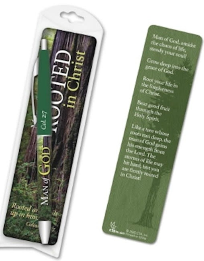 "Gift Set-Man Of God ""Father"" Pen & Bookmark (Colossians 2:6-7 ESV)"