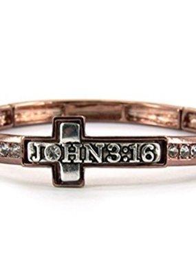 Jewelry: John 3:16 Bracelet, Copper Two Tone