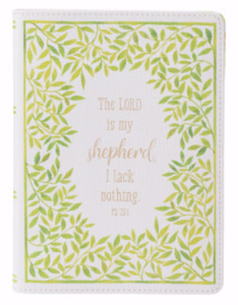 Journal - Classic LuxLeather - Lord Is My Shepherd - Leaves