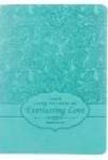 Journal - Handy Sized-Everlasting Love - Turquoise LuxLeather