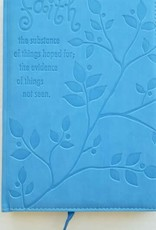 Journal Faith The Substance Blue Imitation Leather