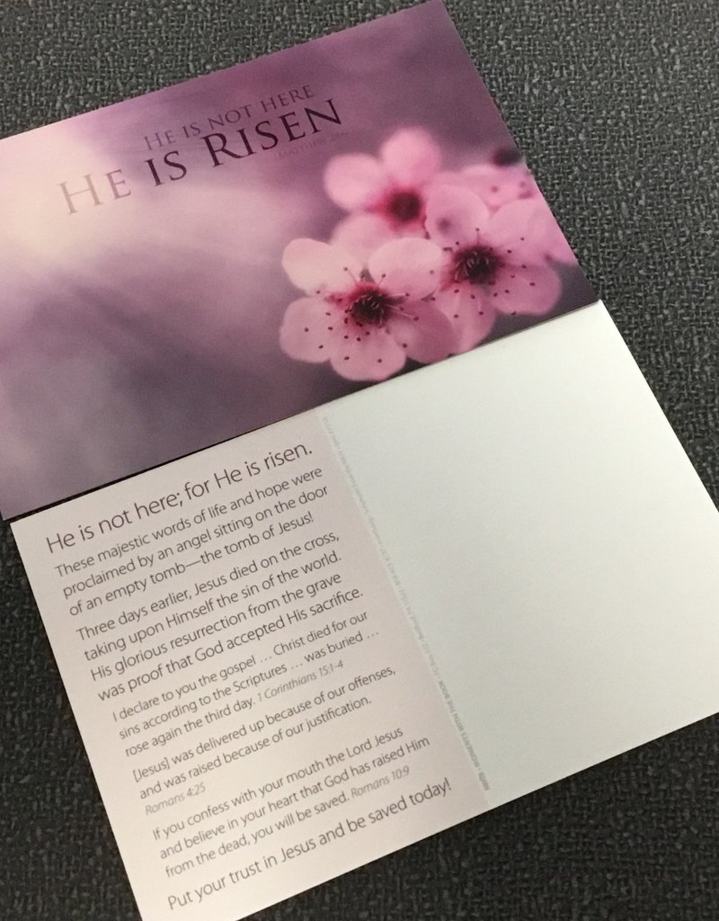 Postcard - He is not Here,  He is Risen - Single