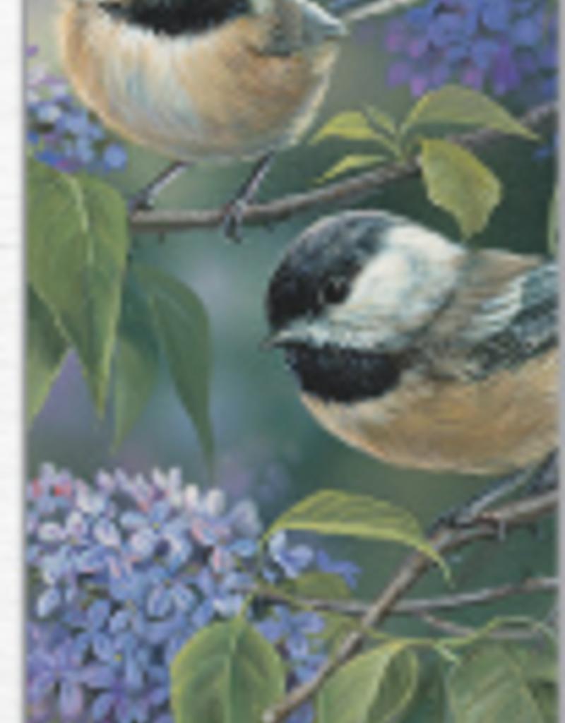 Bookmark - Chickadees & Lilacs