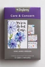 Care & Concern - God Cares For You - 12 Boxed Cards - KJV