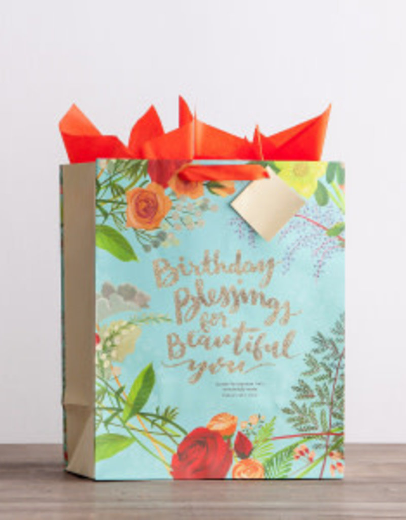 Gift Bag-Specialty-Birthday Blessings-Psalm 139 14 - Large