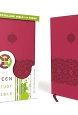 Zondervan NIV Teen Study Bible-Cranberry Duo Tone