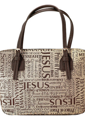 Names of Jesus Bible Cover, Brown, X-Large