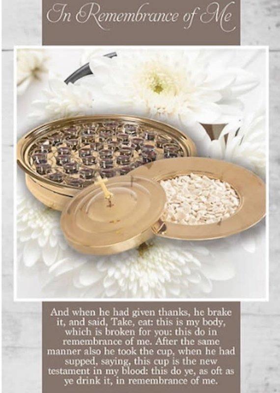 Bulletin-Communion: In Remembrance Of Me (1 Corinthians 11:23-25 KJV) (Pack Of 100)