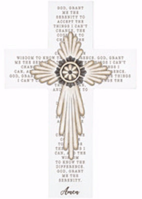 "Wall Cross-Serenity Prayer (14"")"
