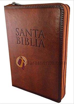 Biblia RVR 1960 Letra Grande con Cierre Indice Cafe