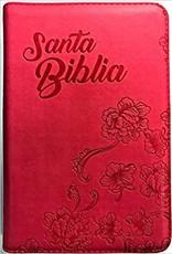 Biblia RVR60 Tamaño Manual Imitacion Piel Fucsia Cierre Indice