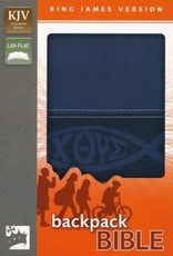 KJV Backpack Bible, Italian Duo-Tone, Slate Blue