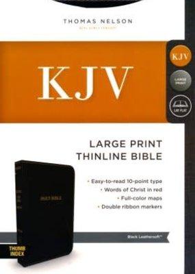 KJV Comfort Series Thinline Bible Large Print Leather Look Black Indexed