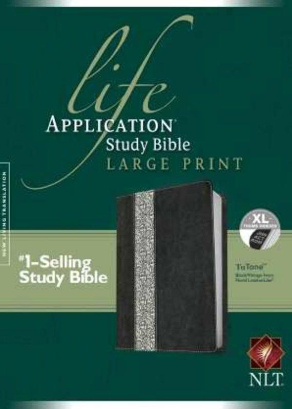 NLT Life Application Study Bible Black/Ivory