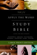 NKJV Apply the Word Study Bible, Large Print, Imitation Leather, Brown, Red Letter Edition