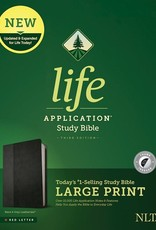 Tyndale NLT Life Application Study Bible/Large Print (Third Edition)-Black/Onyx LeatherLike Indexed