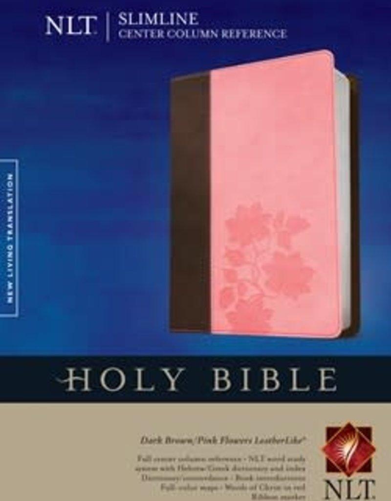 Tyndale NLT Slimline bible Brown/pink