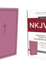 NKJV Personal Size Giant Print Reference Bible (Comfort Print)-Pink Leathersoft