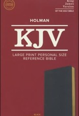 KJV Large Print Personal Size Reference Bible, Black Leathertouch Imitation Leather