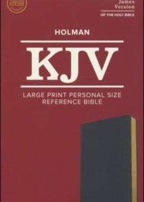 KJV Large Print Personal Size Reference Bible, Black Leathertouch Imitation Leather