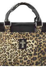 Bible cover leopard print Large