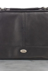 Bible Cover - Medium -Two-fold Black Faux Leather Organizer
