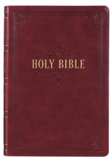 KJV - Burgundy Faux Leather Full-size Giant Print King James Version Bible
