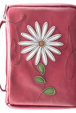 Bible Cover - Patch Applique Joy Flower Medium Pink