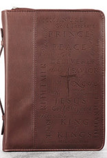 Bible Cover - Large - Names of Jesus Burgundy