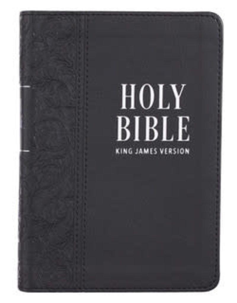 KJV - Black Faux Leather Large Print Compact King James Version Bible