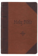 KJV - Two-tone Brown Quarter-bound Faux Leather Giant Print Full-size King James Version Bible
