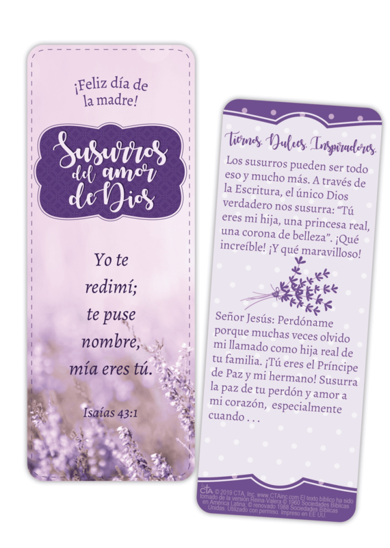 Whispers of God's Love Jumbo Bookmark Mother Spanish