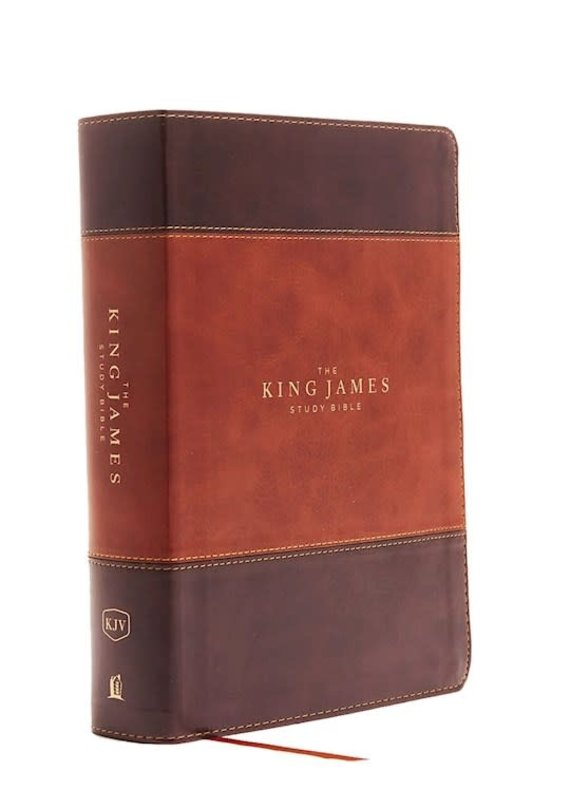 KJV Study Bible (Full-Color)-Brown/Dark Brown Leathersoft Indexed