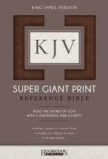 Hendrickson KJV Super Giant Print Reference Bible-Brown Flexisoft Indexed