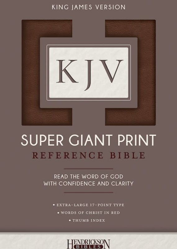 Hendrickson KJV Super Giant Print Reference Bible-Brown Flexisoft Indexed