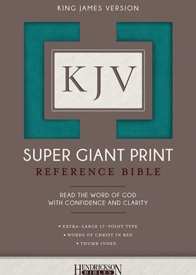 Hendrickson KJV Super Giant Print Reference Bible-Turquoise Flexisoft Indexed