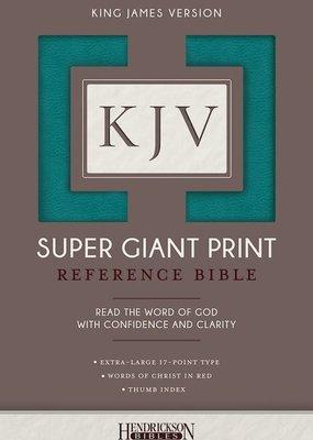 KJV Super Giant Print Reference Bible-Turquoise Flexisoft Indexed