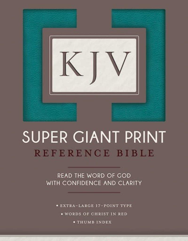 Hendrickson KJV Super Giant Print Reference Bible-Turquoise Flexisoft Indexed