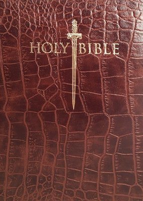 KJV Sword Study Bible-Giant Print-Walnut Alligator Bonded Leather Indexed