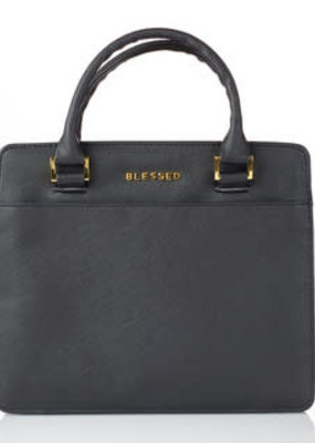 Bible Cover - Medium - Purse-Style Blessed Black