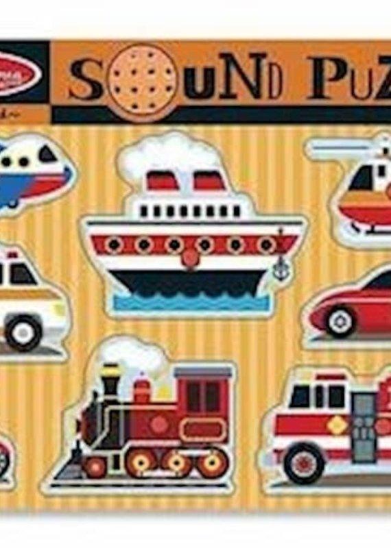 Puzzle-Vehicles Sound Puzzle (8 Pieces) (Ages 2+)