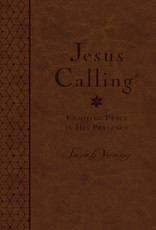 Jesus Calling (Deluxe Edition) Large Print-Brown LeatherSoft