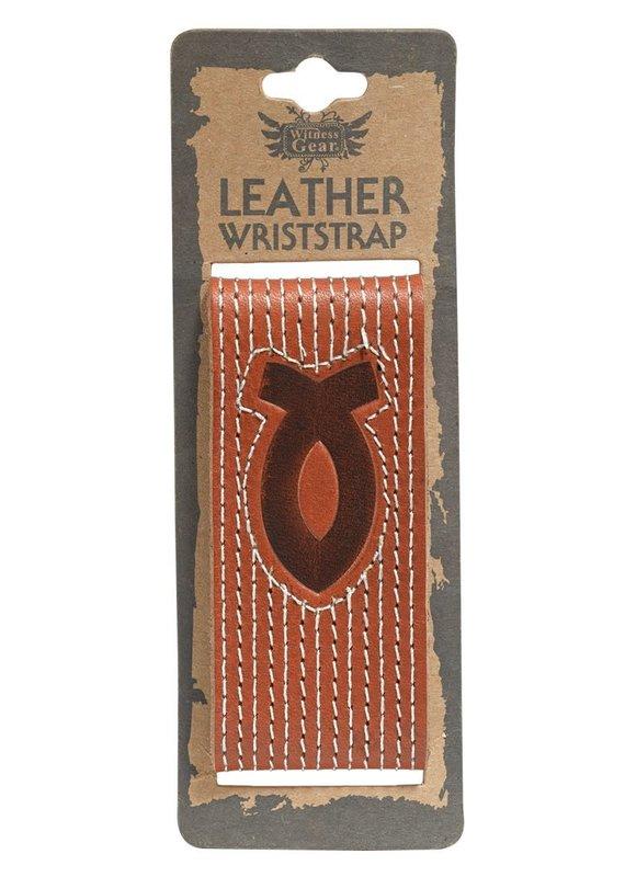Wriststrap leather fiswh emblem