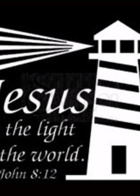 Window Decal Jesus Light World